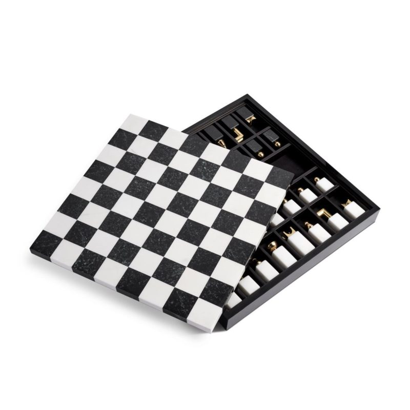 Marmer schaakspel