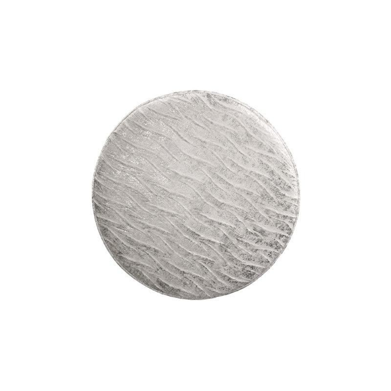 Witte poef Crest Moonbeam