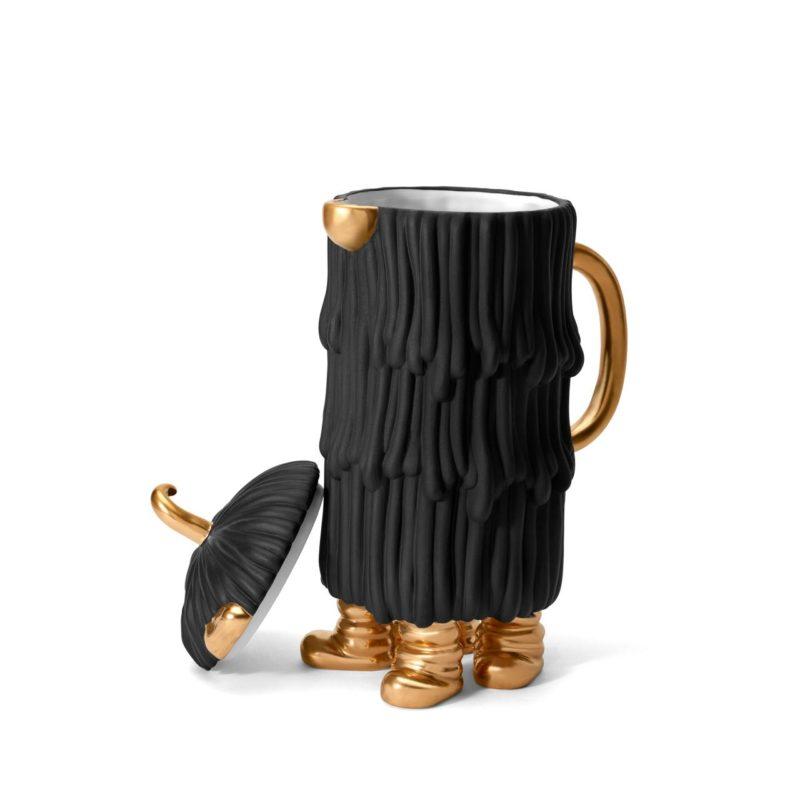 Djuna koffie- en theepot zwart/goud